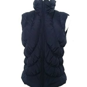 Nine West Dark Blue Puffer Vest Full Zip